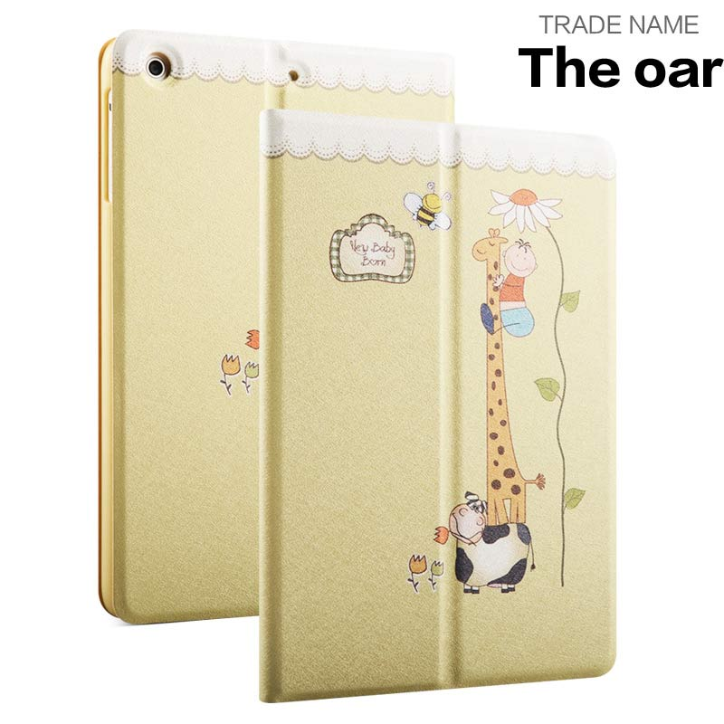 Origami Printed Rotary pu Leather Kids Color print pu leather Joy color case for apple Ipad mini4
