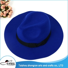China Supplier High Quality Supply Felt Hat Womens Fashion Vintage Multi-Colors Wool Felt Fedora Hats