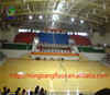 used basketball flooring prices by plain or wood pattern / gym flooring factory