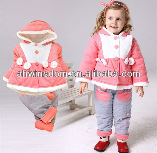 EUROPEAN NEWEST CHILDREN TWO-PIECE SUIT/BABY WINTER SUIT