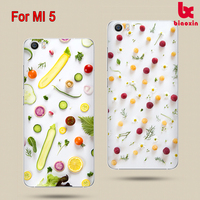 M5 Protective Case Bumper Scratch-Resistant Perfect Fit PC hard Print pattern Silicone Clear Case Gel Cover For Xiaomi Mi5