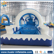 Giant outdoor Long Inflatable City Slide with pool / adult Inflatable Slip N Slide For sale