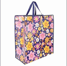 shopping bag with zipper pp non woven promotional bag