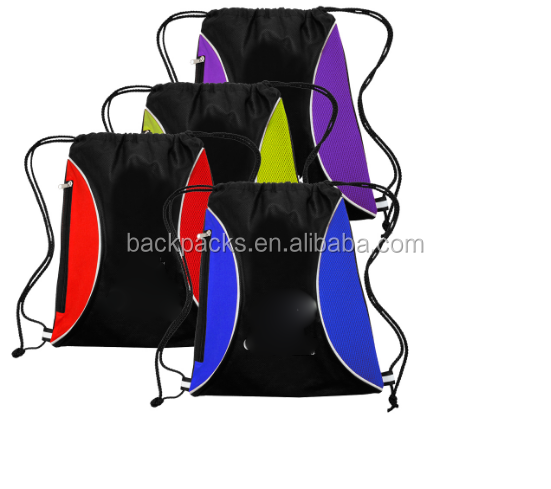 Promo Non-Woven Zipper Side Drawstring Backpacks