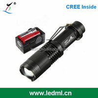 XML T6 zoomable cree led power style flashlight