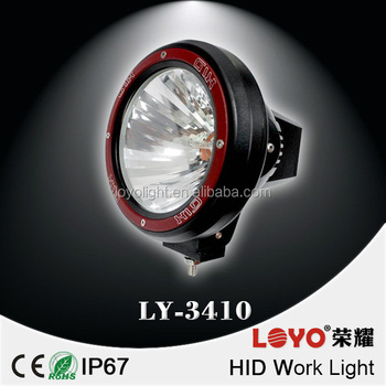 "9"" hid driving light units 9 inch HID work lamp for off road"
