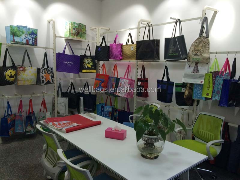 customized logo plain color PP woven boat IKEA shape shopping tote bag alibaba trade assurance