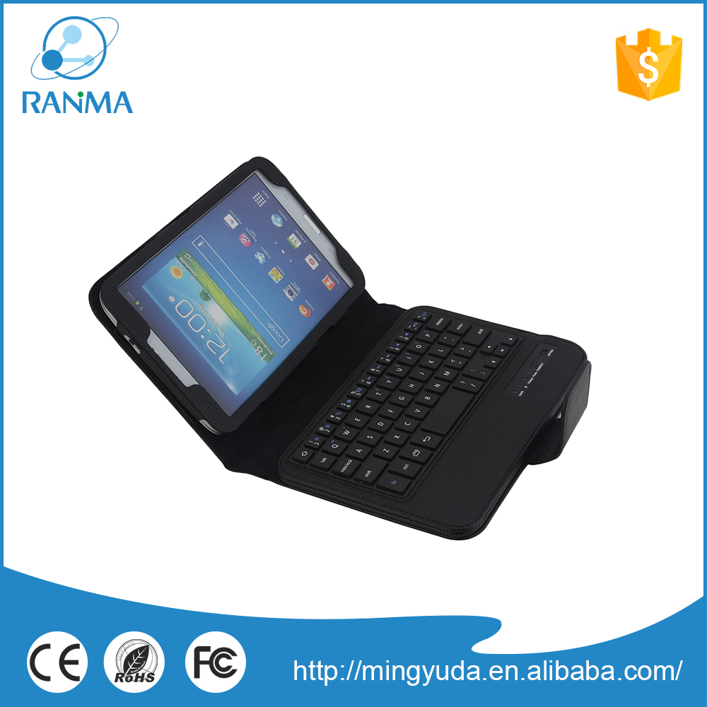 Universal waterproof pu leather 8 inch bluetooth keyboard case for samsung Tab 3