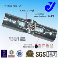JY-4|Parallel ABS Pipe Metal Joint |Metal Joint for Goods Shelf