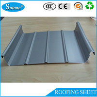 50 years warranty color coated Standing Seam aluminum roof design