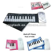 EP-49D hand roll silicone piano, gifts for piano players