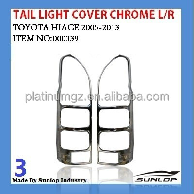 #000339 Hiace body kits tail light cover Chrome for hiace van,commuter,KDH200