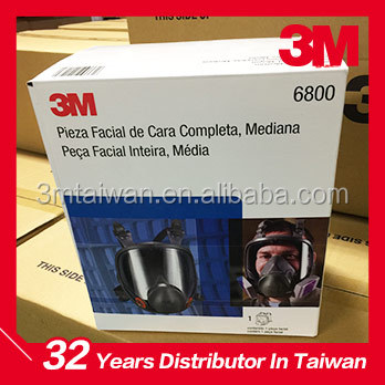 3M Full Face Large lens Respirator 6800 dust gas mask stock