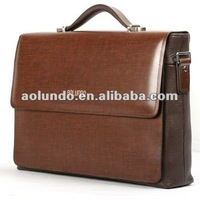 Hard leather business men laptop briefcase bags