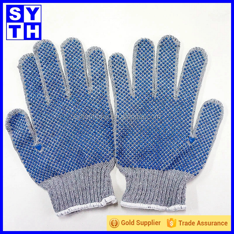 Glove factory customize pvc dotted cotton working gloves importers in usa