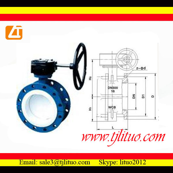 18 inch wafer butterfly valve with worm gear