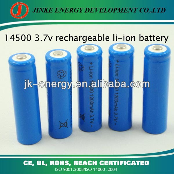 OEM manufacturer 1200mah 3.7v 14500 aa rechargeable battery li ion