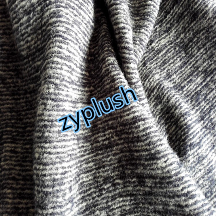 FY130625 Knit Wool Mohair Fabric for Winter Jacket