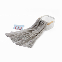 wholesale hotselling arab scarf cotton lace pattern hijab muslim women pashmina shawl