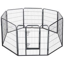 90cmx94cmx6pcs panel Large Heavy Duty Cage Pet Dog Cat Barrier Fence Exercise Metal Play Pen Kennel