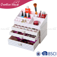 Home Storage & Organization ps / abs plastic desk stand holder make up tools cosmetic makeup organizer