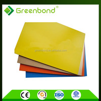 Greenbond garage wall finish materials plastic wall covering of brushed aluminum composite panel