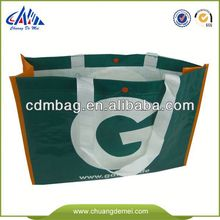 Green Promotional green spun shopping bag