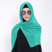Women fashion hijab 2017 heavy bubble chiffon hijab solid color instant chiffon shawl islamic muslim hijab scarf