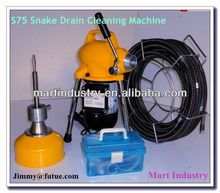 "Snakes 4"" drain cleaning machine to unclog drain the sewage"
