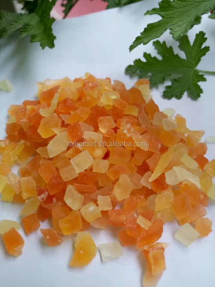 dried papaya dice slice dehydrated snake fruits and good quality