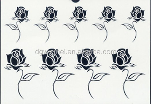 Beauty New Fake Removable Temporary Tattoo Stickers Body Art Rose Flower Design Waterproof Flash Tattoos Women
