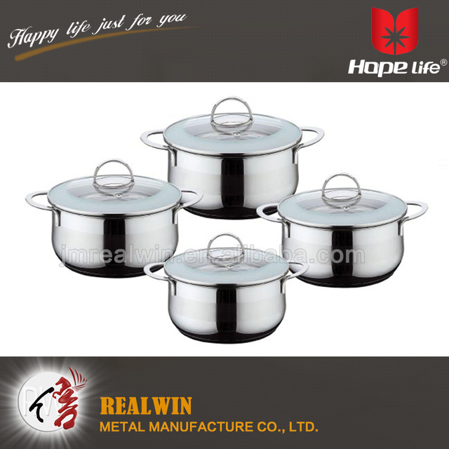 Promotion kitchen stainless steel induction casserole cooking pot with S/S wire handle