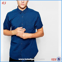 Best Products For Import Fashion Men New Look Short Sleeve 100% Cotton Casual Oxford Shirt