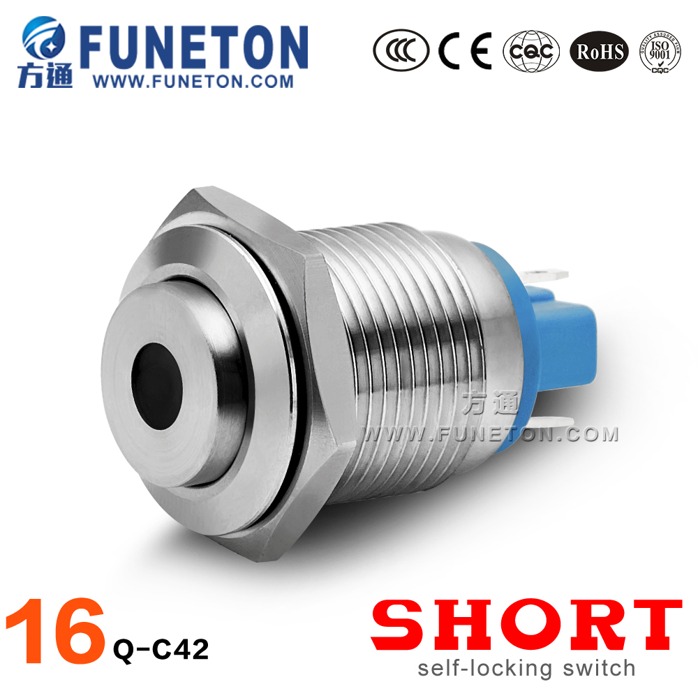 Promotion 12v led metal push button switch, waterproof push button switch supplier