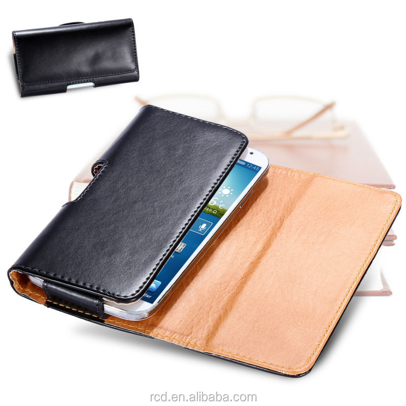 Wallet Cell Phone Case For Samsung S5 S4 S3, Universal Smart Phone Wallet Style Leather Case