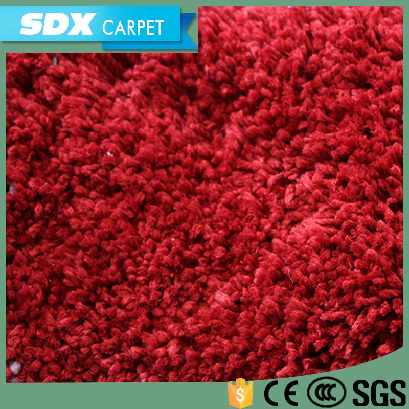 Polyester Shaggy Carpets With Stretch Silk And 300D Silk