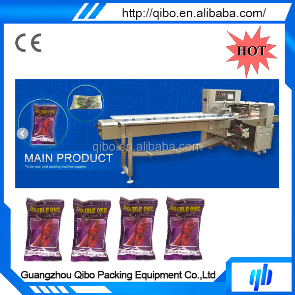 Full automatic plastic gloves packaging equipment machinery