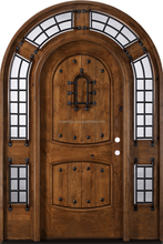 Solid Wood Exterior Door With Opening Window