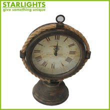 Metal custom desk clock/ time clock/wholesale table clock bell