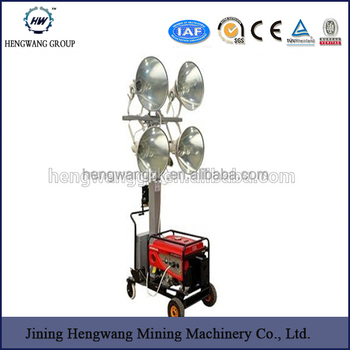 Diesel Engine Mobile Lighting Towers 230v Generator