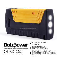 Auto battery booster rechargable battery charger 12000mAh Battery Booster with SOS&LED light electriccity generation power bank
