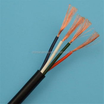 227 IEC 53 RVV flexible pvc insulated 4 core 0.75mm cable
