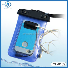 promotion gift cell phone neck hanging bag Waterproof for iphone case earphone jack