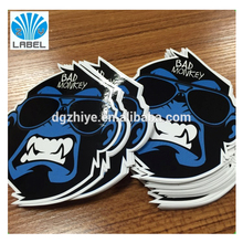 Custom facial Shape individual sheet Sticker glossy lamination die cut waterproof sticker with your own logo design