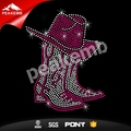 Hot sale cowgirl boots iron ons motif rhinestone design