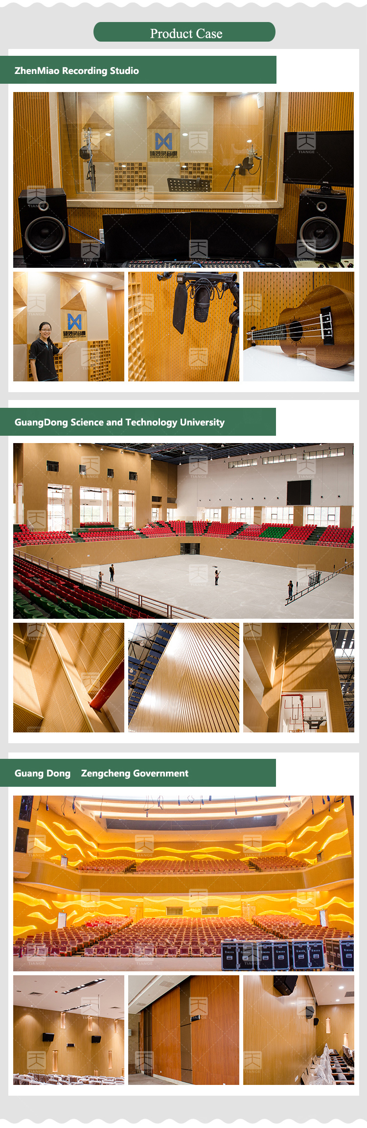 Wooden acoustic panel for wall and ceiling soundproofing