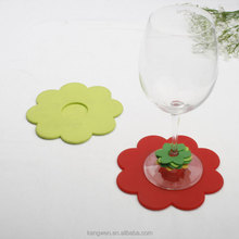 heat resistant silicone flower shaped coffee tea cup mat N058