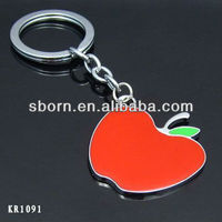 Promotional alloy apple shpaed key chain