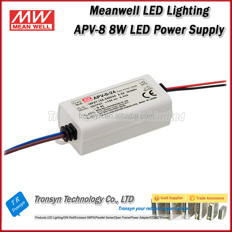 Meanwell Constant Voltage LED Power Supply 12V 5W LED Driver APV-8-12