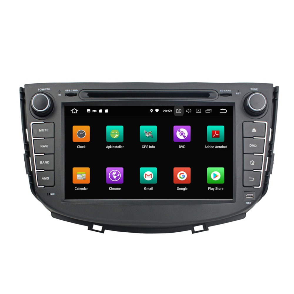 KD-8094 klyde 8inch 2din Android 8.0 car dvd player gps car audio vedio multimedia player for Lifan X60